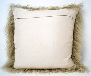 Tibetan Throw Pillow - Champagne