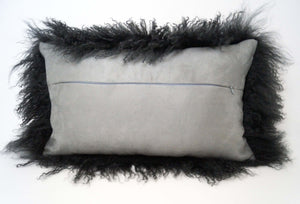 Tibetan Sheep Throw Pillow - Charcoal