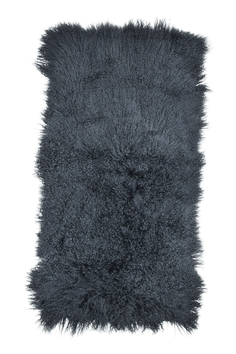 Tibetan Sheep Throw - Charcoal