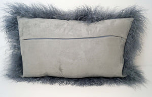 Tibetan Throw Pillow - Steel Gray