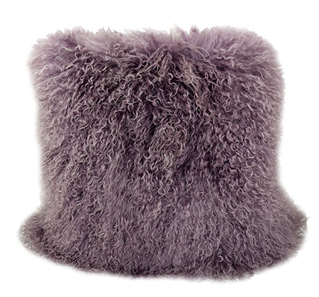 Tibetan Sheep Throw Pillow - Purple / Mauve