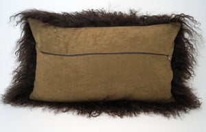 Tibetan Throw Pillow - Chocolate