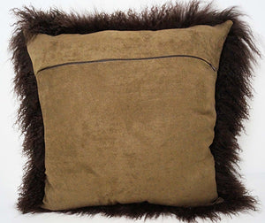 Tibetan Sheep Throw Pillow - Chocolate