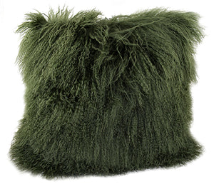 Tibetan Throw Pillow - Olive