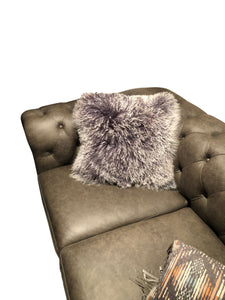 Tibetan Sheep Throw Pillow - Grey Tipped