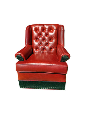 Roja Tallback Tufted Swivel Glider