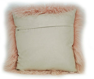 Tibetan Sheep Throw Pillow - Blush