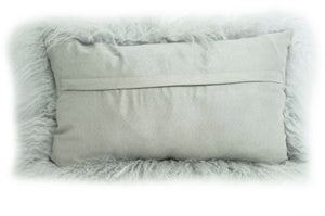 Tibetan Throw Pillow - Ash Grey