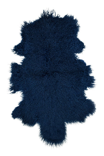 Tibetan Sheep Pelt - Nautical Blue