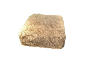 Giant Tibetan Sheep Ottoman - Off White