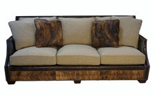 Load image into Gallery viewer, Adrian Contemporary Western Cowhide Sofa - Oatmeal