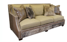 Load image into Gallery viewer, Adrian Contemporary Western Cowhide Sofa - Gray