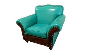 """Albuquerque"" Turquoise Club Chair"