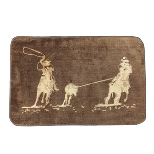 Team Roping Bath or Kitchen Rug