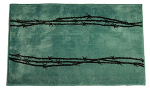 Barbed Wire Print Bath Rug