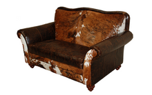 Load image into Gallery viewer, Bartlett Rustic Cowhide Love Seat
