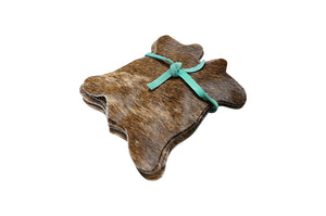 Cowhide Coaster Set