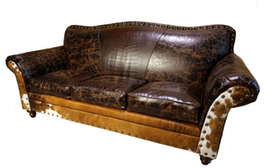 Cabin Fever 3 Cushion Rustic Lodge Sofa