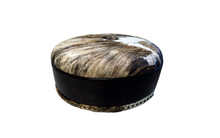 "Load image into Gallery viewer, Cabin Fever 42"" Round Rustic Lodge Ottoman"