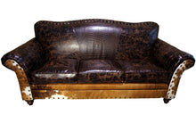 Load image into Gallery viewer, Cabin Fever 3 Cushion Western Cowhide Sofa