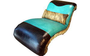 """Albuquerque"" Turquoise Chaise Lounge"