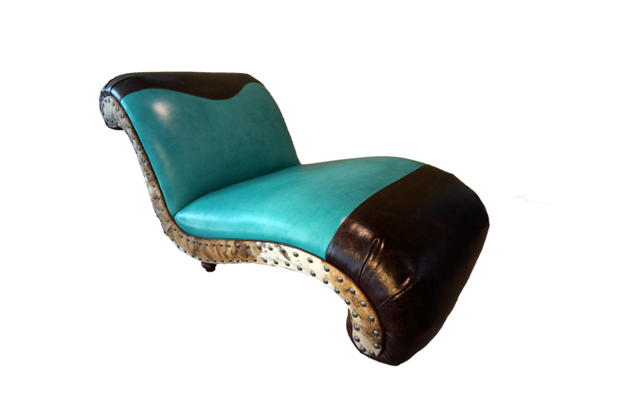 Albuquerque Turquoise Chaise Lounge Great Blue Heron