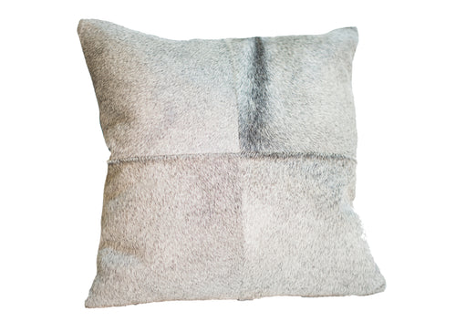 Cowhide Quadrant Pillow - Gray