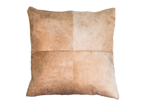 Cowhide Quadrant Pillow - Light Brown