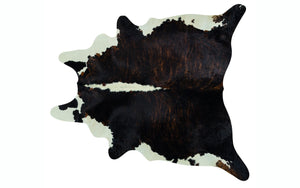 Brazilian Cowhide - Brindle with White Backbone