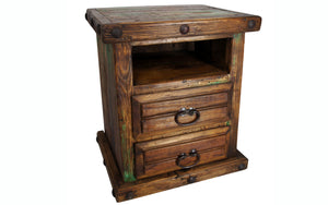 Handmade Reclaimed Wood Bedside Table