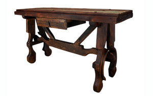 Reclaimed Wood Top Sofa Table