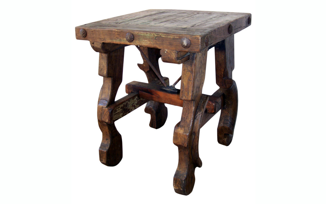 Reclaimed Wood Top Side Table