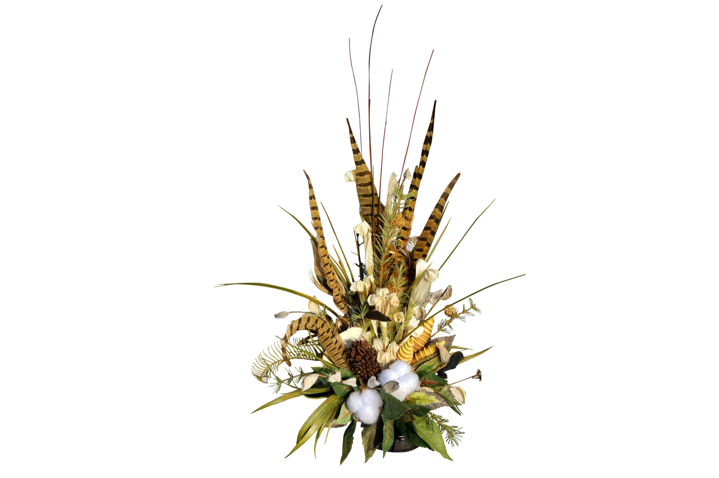 Natural Cotton & Feather Tile Center Piece