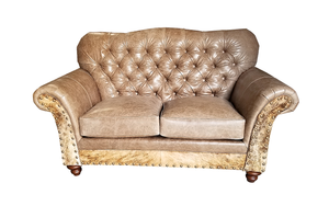 Grey Rock Tufted Love Seat