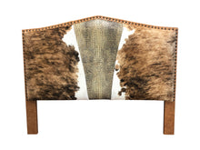 Load image into Gallery viewer, Handlebar H King Cowhide Headboard