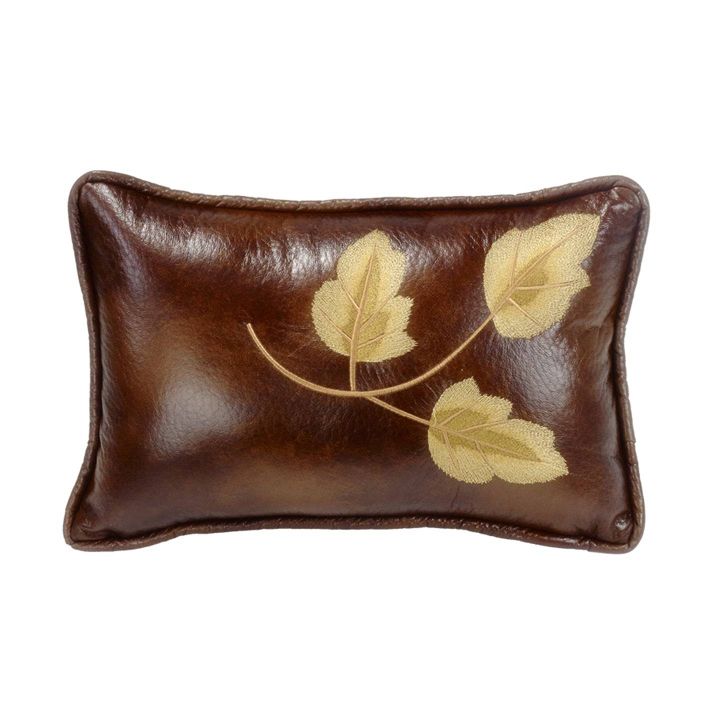Highland Lodge Embroidery Leaf Pillow