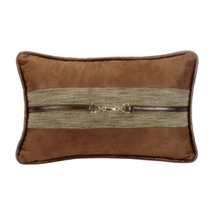 Highland Lodge Suede Pillow w/Buckle Detail