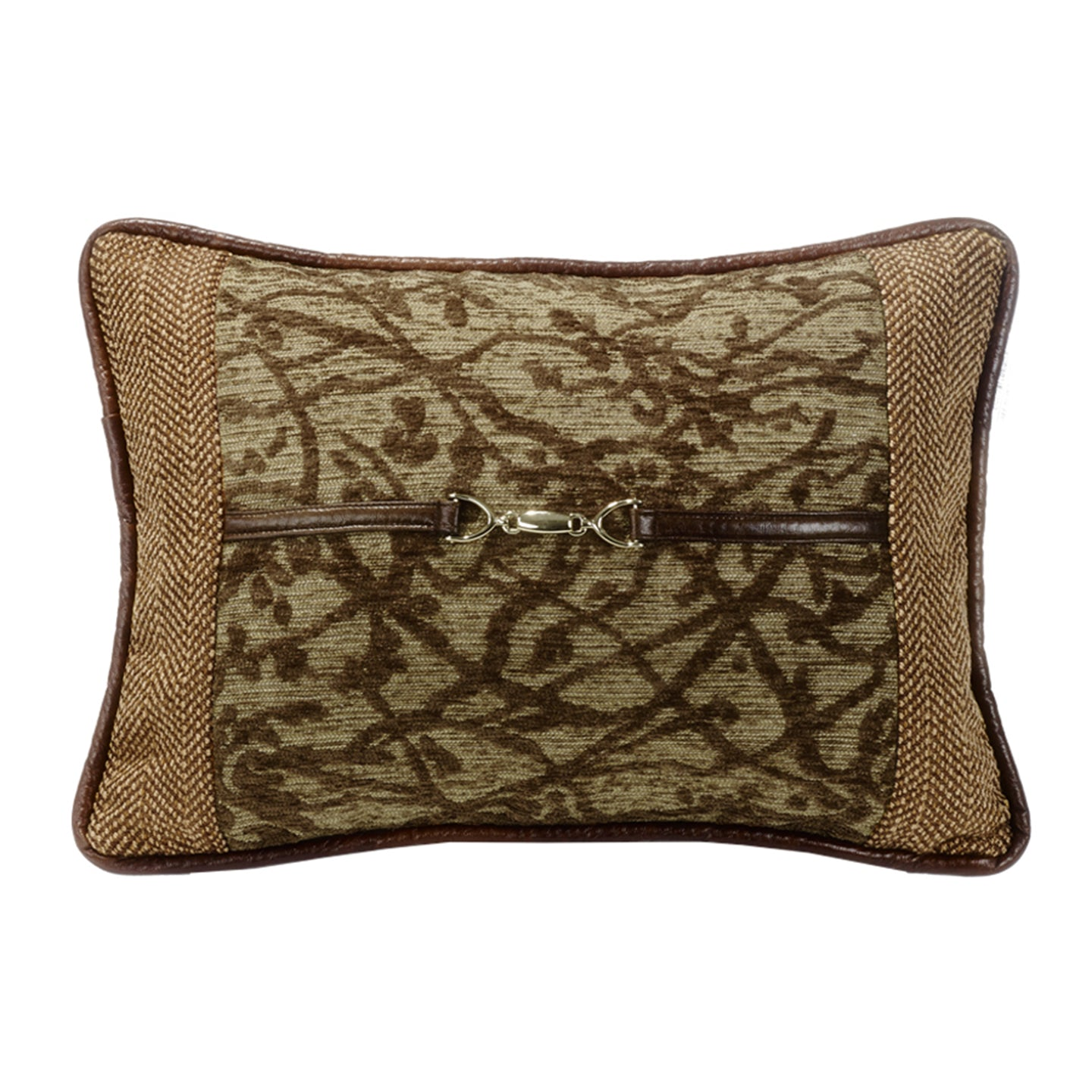 Highland Lodge Tree Pillow w/Buckle Detail