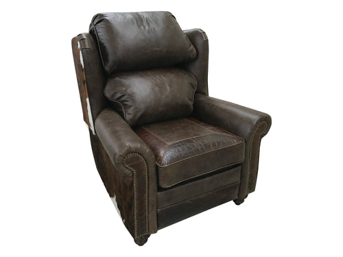 Maverick II Oversized Wingback Western Leather Recliner