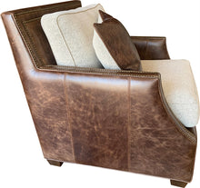 Load image into Gallery viewer, Adrian Contemporary Rustic Cowhide Club Chair