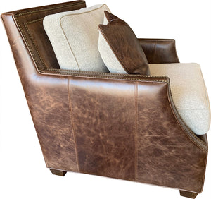Adrian Contemporary Rustic Cowhide Club Chair