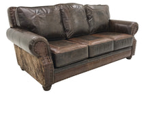 Load image into Gallery viewer, Maverick 3 Cushion Western Cowhide Sofa (Semi-Attached Cushions)