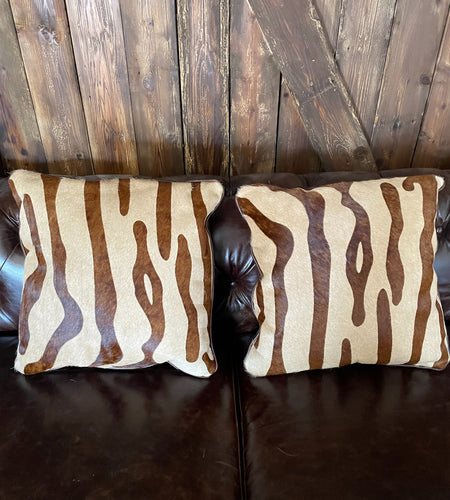 Faux Zebra Pillow Pair #1 & #2