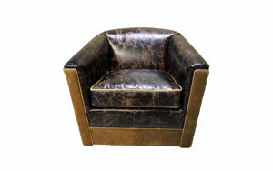Idaho Rustic Lodge Swivel Glider
