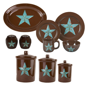 Star 22 PCS Dinnerware and Canister Collection