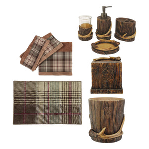 Antler 10 PC Bath Accessory and Forest Pines Towel Set