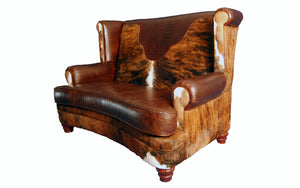 Luckenbach Western Leather Love Seat