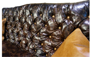 """Medina"" 3 Cushion Tufted Sofa"