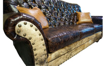 Load image into Gallery viewer, Medina 3 Cushion Tufted Western Cowhide Sofa