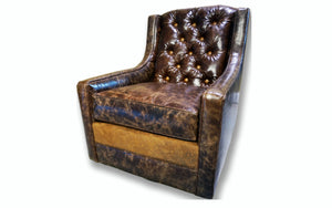 """Medina"" Tall Back Tufted Swivel Glider"